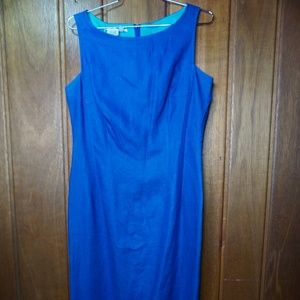 Maggy London Womens Blue Sleeveless Dress Midi